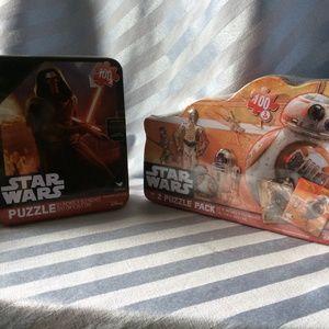 3x Star Wars Puzzles & 2 Tins: Kylo-Ren/BB8